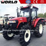 A China o Melhor Preço 4X4 110HP com Carregadeira Dianteira do Trator Agrícola