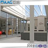 Elevador resistente e deslizamento da porta de vidro de alumínio