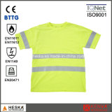 Modacrylbaumwolle Franc schließt der hohen Sicht-En11612 Hülsen-T-Shirt kurz