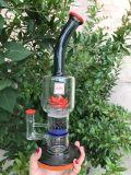 Spitzenfarben Glas-KLEKS Ölplattform der Klein Recycler-Glaspfeife-5