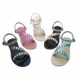 Sandálias de geléia de sandálias de margarida de linho da chegada nova elegante