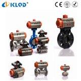 Actuador neumático Full Bore 3PCS CF8m válvula de bola de acero inoxidable