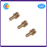 316 / Aço inoxidável Multicolorido / M6 Pan Cross Cross / Phillips Fastener Screw with Gasket / Washer