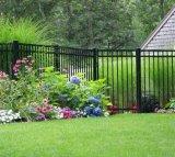 ホームに装飾の黒色火薬の上塗を施してある庭の囲うこと