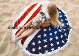 Круглые круг пляж полотенце с 100% хлопок