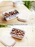 مينا أداة مائدة مينا إناء [ستورج تنك] طازج - يحافظ صندوق مع تغذية خشبيّة 3/4 في مجموعة