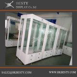 Cabina de pared de lujo de vidrios con el metal para el almacén de joyería