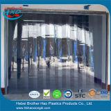 Rideau en plastique flexible mou et clair en porte à lamelles de PVC