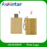 Palillo de madera del USB del libro del mecanismo impulsor del flash USB3.0