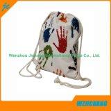 La moda de la serie Multicolor fuera del cordón de algodón Bolsa mochila