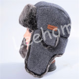 견면 벨벳 겨울 양털 Earflaps 모자