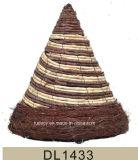 Естественная сплетенная корзина прочного ротанга вися
