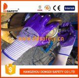 Ddsafety 2017 13 gants de revêtement des nitriles 3/4 pourpré en nylon blanc mélangé pourpré de doublure de zèbre de mesure