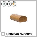 Balustrade ovale de haute qualité de chêne rouge en bois solide pour la villa