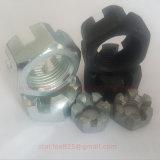 Noix encochée par hexa d'acier du carbone DIN935 et DIN979 d'acier inoxydable