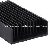 Espulsione di alluminio personalizzata per il dissipatore di calore con il nero anodizzato