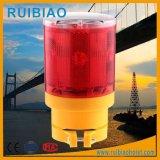Diodo emissor de luz da cor vermelha que adverte a luz solar do estroboscópio do obstáculo do guindaste de torre