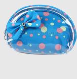 PVC cosmétique clair réglé de sac de POINT de fournisseur de la Chine d'impression de sac élégant de renivellement