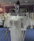Elegant weg vom Schulter-Hochzeits-Kleid mit Rüsche-Unterseite