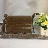 Spring Fashion sac messager parsemé de sacs à main en cuir véritable avec des glands Emg4827