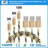 Высокоскоростные данные по/зарядный кабель USB нейлона для мобильного телефона