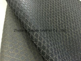 Кожа PVC картины ткани синтетическая для мебели софы с печатью