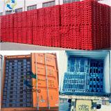 1200X1000 3 de Plastic Pallet van het Open Dek van de Bodem van Agenten