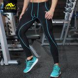 メンズ堅いLeggingのスポーツによっては適性のレギングが喘ぐ