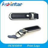 Speicher-grelle Platte-Metall-USB-Blitz-Laufwerk-Leder USB-Stock PU-USB3.0