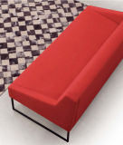 Farbiges Salon-Möbel-Gewebe-Edelstahl-Sofa