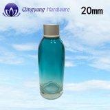 ふたが付いている新しいアルミニウム化粧品のクリーム色の瓶