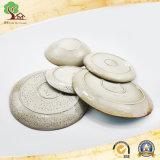 Plaque de dîner de crépitement avec la cuvette dans la plaque en céramique de modèle neuf d'usine de la Chine
