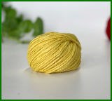 filato della fibra della iuta tinto 3ply (colore giallo)