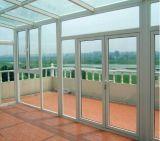 Oscillation extérieure de balcon en aluminium et guichet fixe