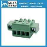 Мужчина и женский зеленый Pluggable блок 5.08mm терминальный