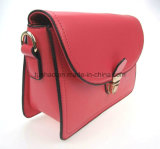 Push Lock PU Leather女性小型ハンドバッグのショルダー・バッグ