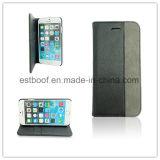 Caja del teléfono móvil del cuero genuino para el iPhone