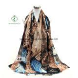 Новой повелительница напечатанная шалью бабочки конструкции сатинировки Silk способа Шарф