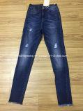 jeans blu scuro delle donne 7.6oz (HY2502-31S)