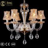 Luz de cristal européia do candelabro de Champagne