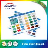 Carta de cores com design personalizado com sombra de tinta