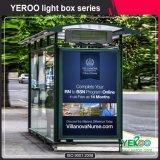 Étalage tournant debout de cadre de Mupis-Lumière de cadre léger de Lightbox-Advertising de défilement