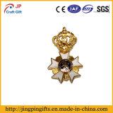 2016 elegante corona imperial insignia de esmalte duro