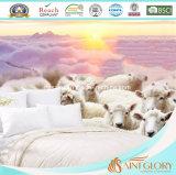 Одеяло шерстей сбывания роскошной крышки хлопка горячее