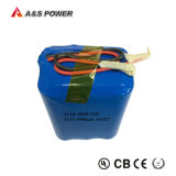 paquetes recargable de la batería del Li-ion del litio de 11.1V 12V 4500mAh 18650