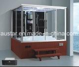 Tamaño grande 2200mm cuadrados vapor sauna con Jacuzzi y Tvdvd por persona (A-GT0225TVDVD)