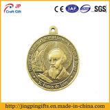 Medalla antigua de encargo 3D con el acollador