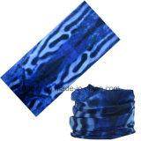 Poliéster sem emenda azul Multifunctional Headwear tubular