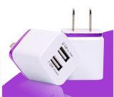 Adaptador dual del cargador de la pared del USB del enchufe UE/USA para el teléfono móvil