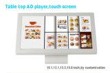 디지털 Signage 대화식 Touchscreen 모니터 간이 건축물을 서 있는 10.1 인치 LCD 지면